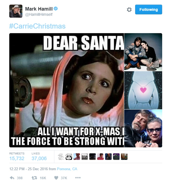 Carrie Fisher is in Stable Condition; Harrison Ford Shocked