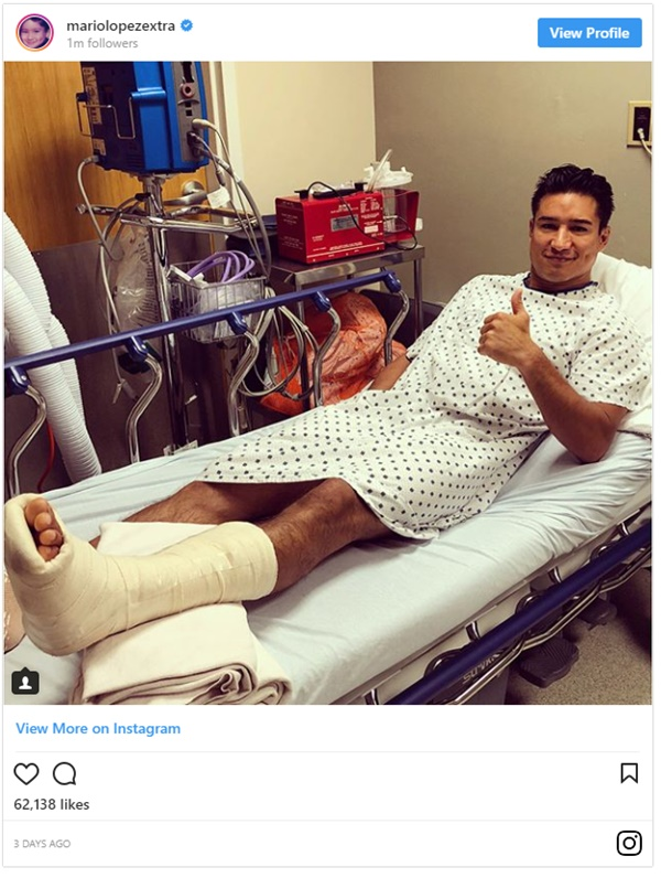 Mario Lopez Undergoes Surgery for Fourth of July Injury