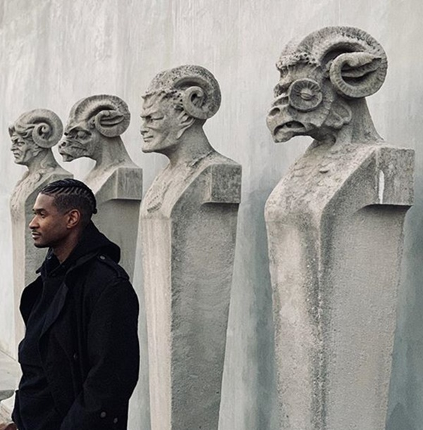 Usher Debuts New Hairstyle for 2019