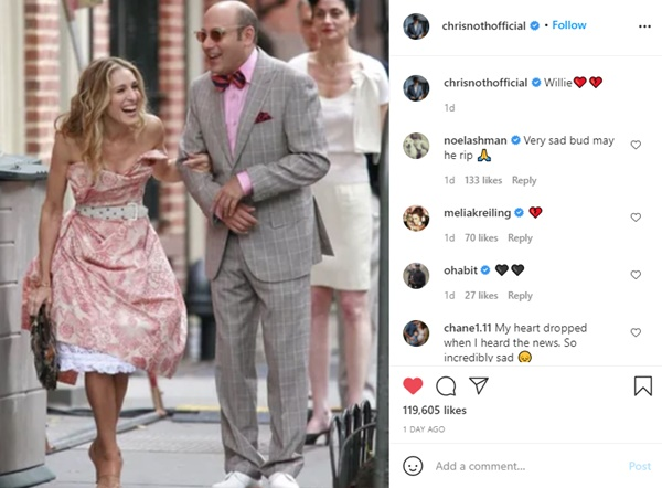 Sex and The City Cast Tribute Willie Garson